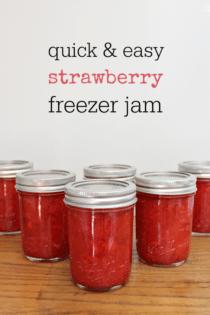 Easy Homemade Strawberry Freezer Jam Recipe