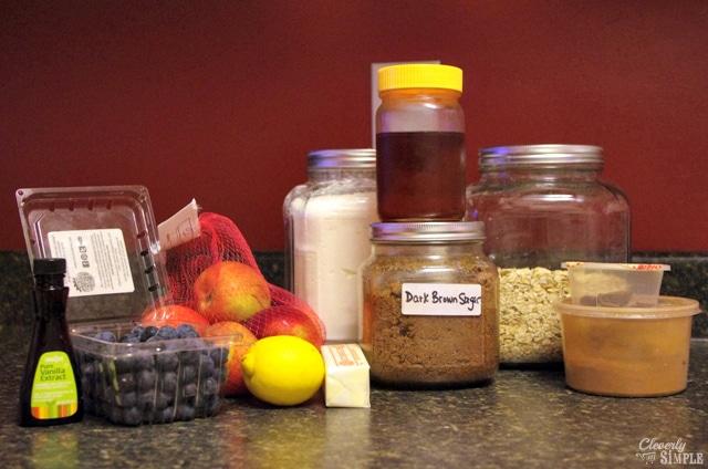 fruit crisp recipe ingredients