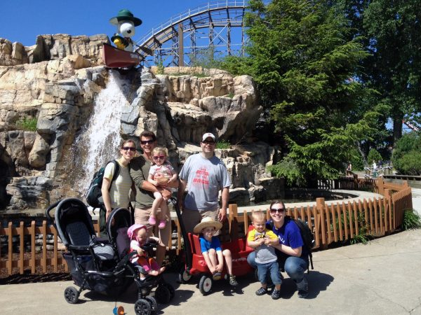 the whole family at cedar point