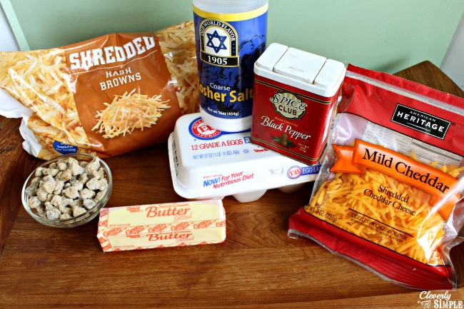 Ingredients for Sausage and Cheese Biscuits