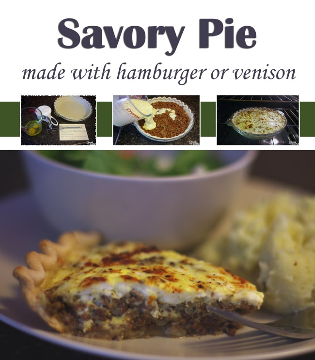 how to make savory pie with hamburger or venison