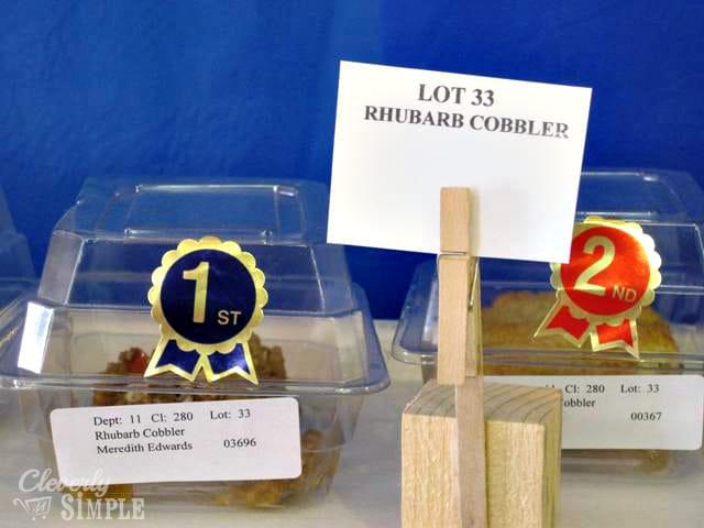 Award Winning Rhubarb Cobbler