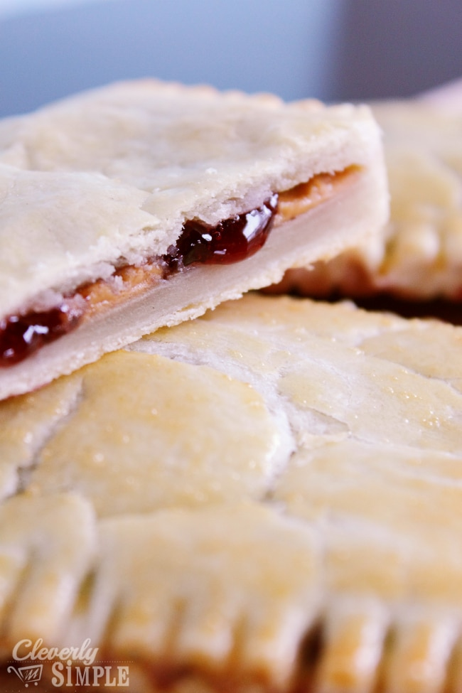 Homemade Peanut BUtter and jelly pastries like pop tarts