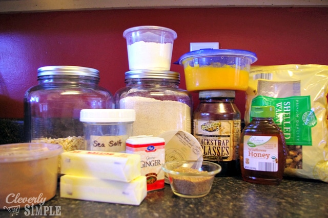 ingredients for butternut squash cookies