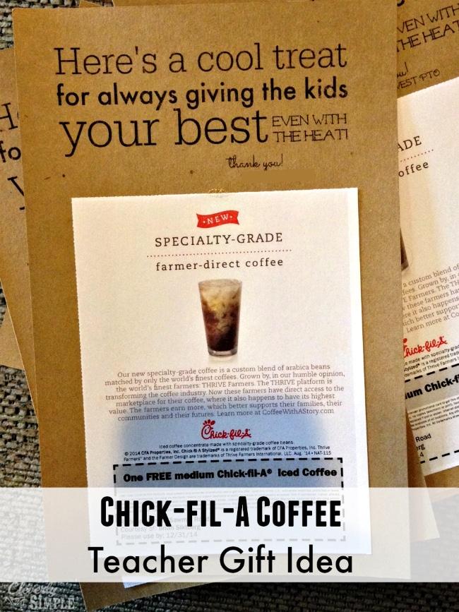 Chickfila Teacher Gift Idea