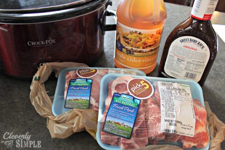 Crockpot Ribs Ingredients