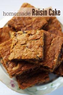 Autumn Raisin Cake Recipe
