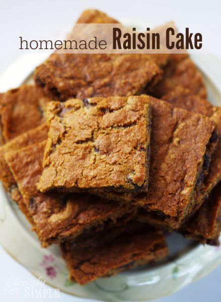 Homemade Raisin Cake Recipe