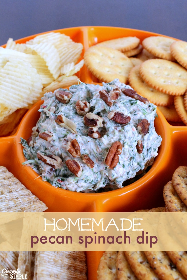 Homemade Pecan Spinach Dip