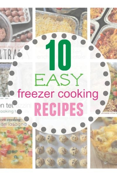 easy freezer cooking recipes