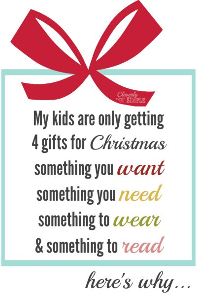 Christmas poem to decide what to get for Christmas. Something you want, need, wear and read.