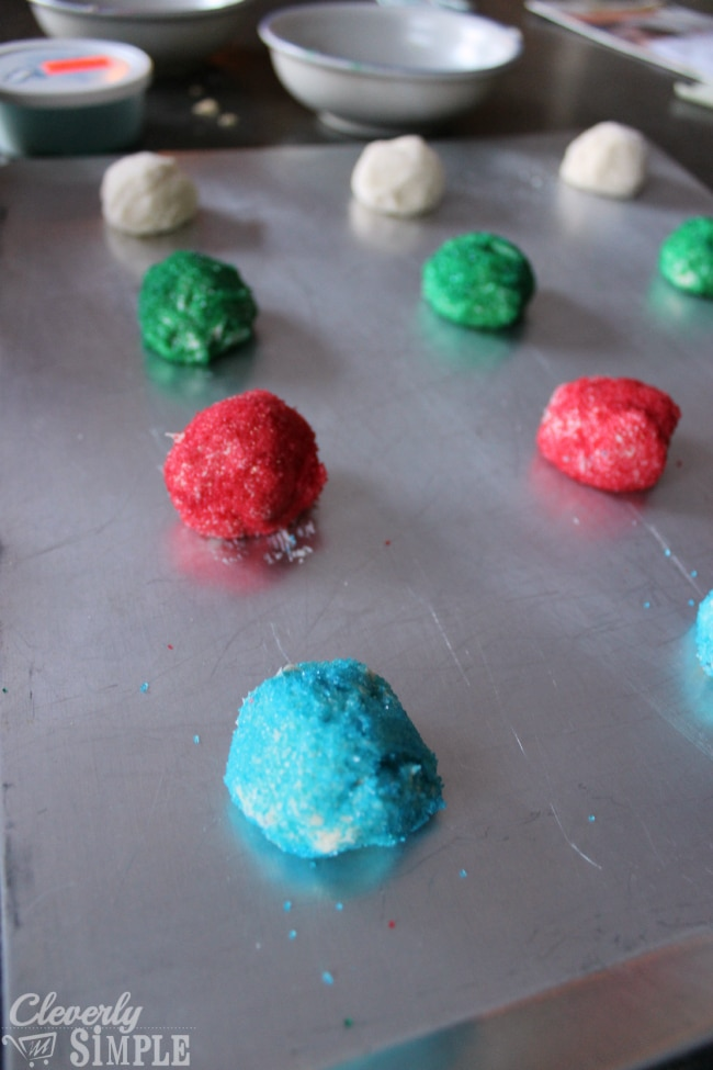 Colorful sugar cookies easy recipe