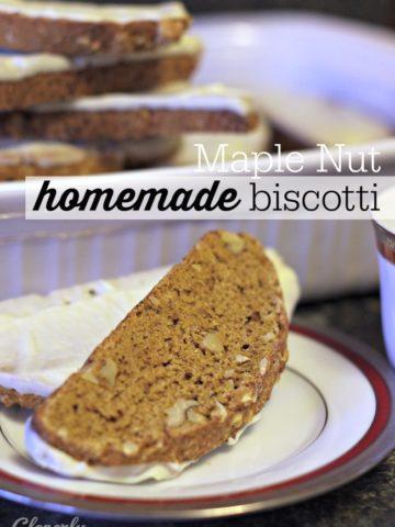 Maple Nut Homemade Biscotti Recipe