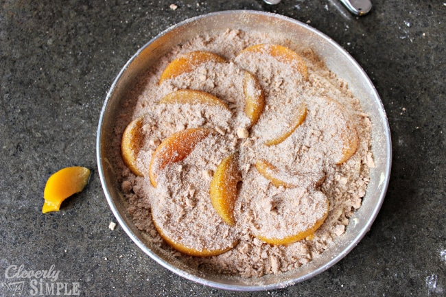 Peach Coffee Cake Recipe with Cinnamon Sugar Topping