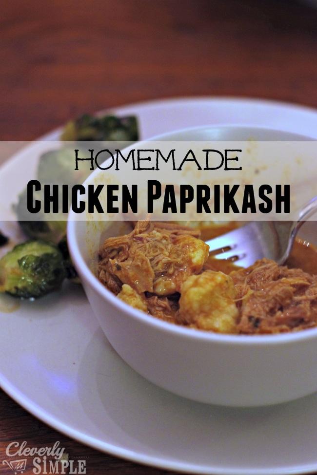 homemade chicken paprikash