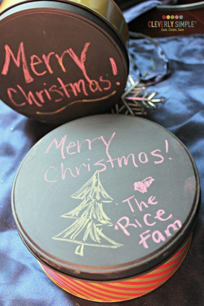 Chalkboard Cookie Tin