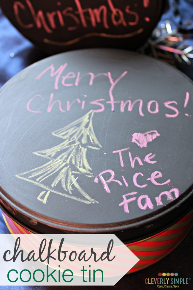 DIY Chalboard Cookie Tins with Chalkboard Paint
