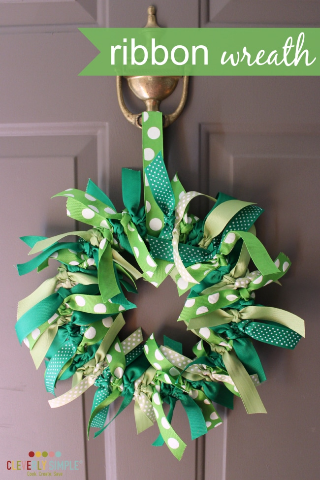 How to make your own ribbon wreath