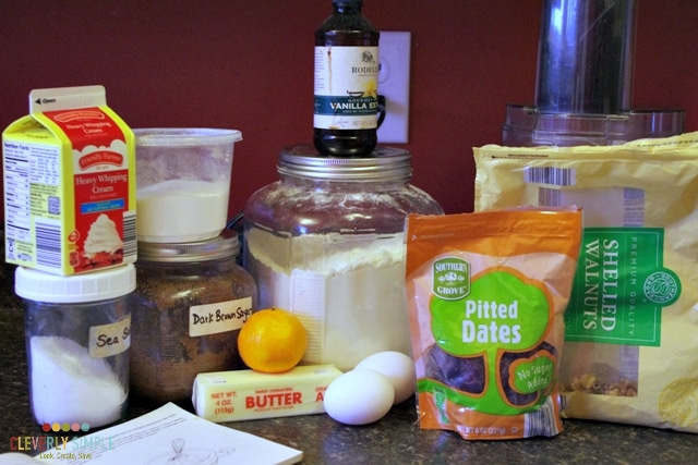 Ingredients for homemade scones