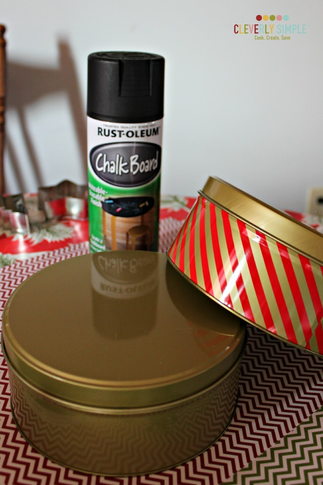 What you need to spray paint cookie tins