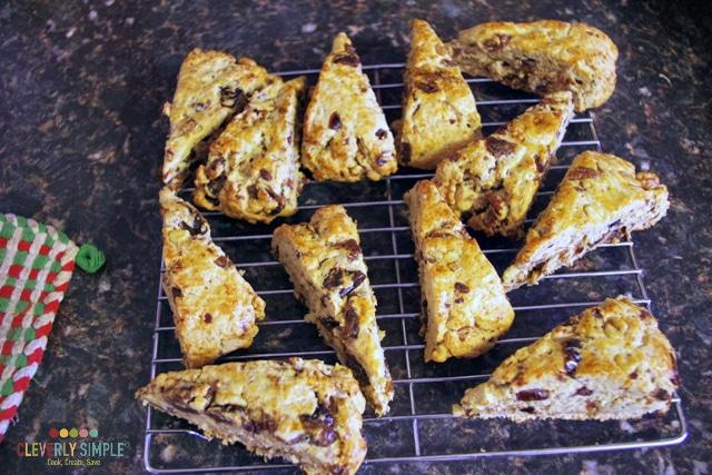 Yummy baked scones