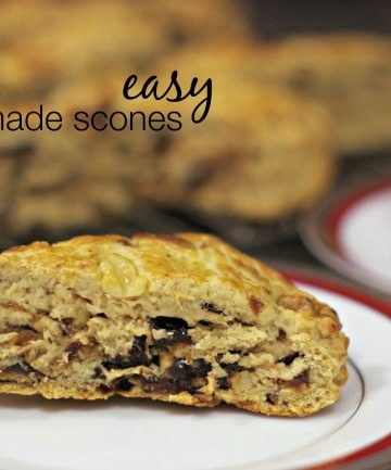 homemade scone on plate