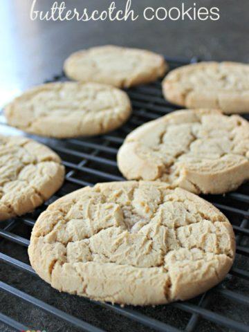homemade butterscotch cookies