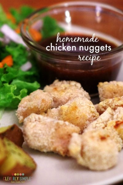 how to make homemade chicken nuggets - recipe