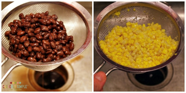 Black Bean and Corn for Fajita Soup
