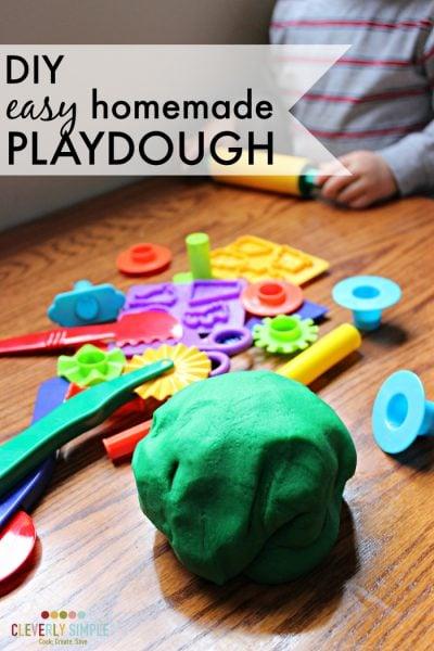 DIY easy homemade playdough