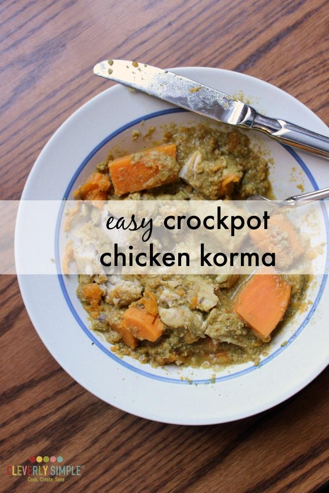 simple chicken korma recipe