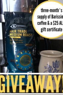 Giveaway: Win Three Month's Supply of Barissimo Coffee & a $25 ALDI Gift Certificate