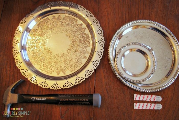 How to hang silver plates