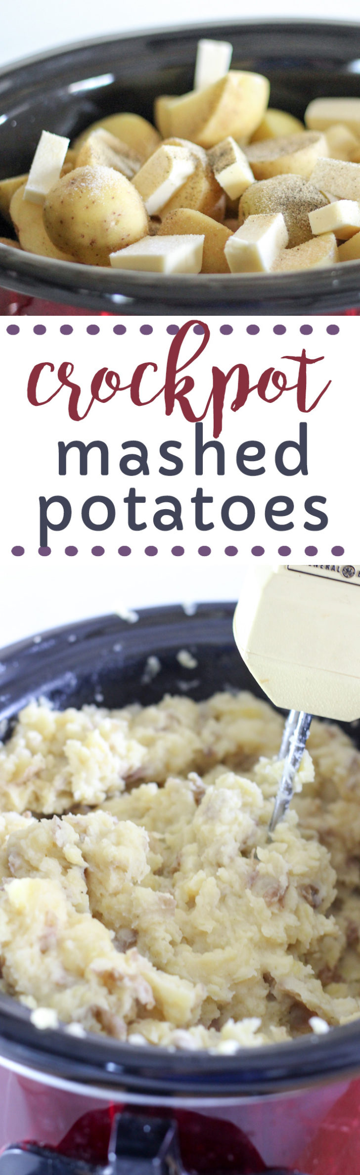 How to make mashed potatoes in the crockpot using electric mixer.