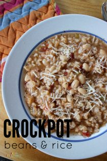 crockpot beans and rice recipe