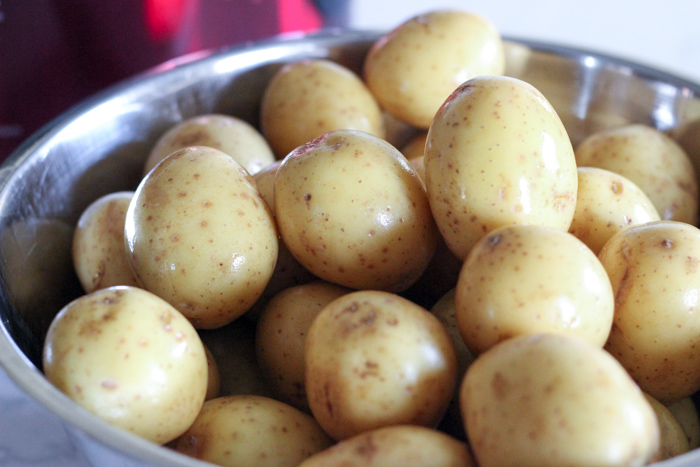 gold potatoes in bowl