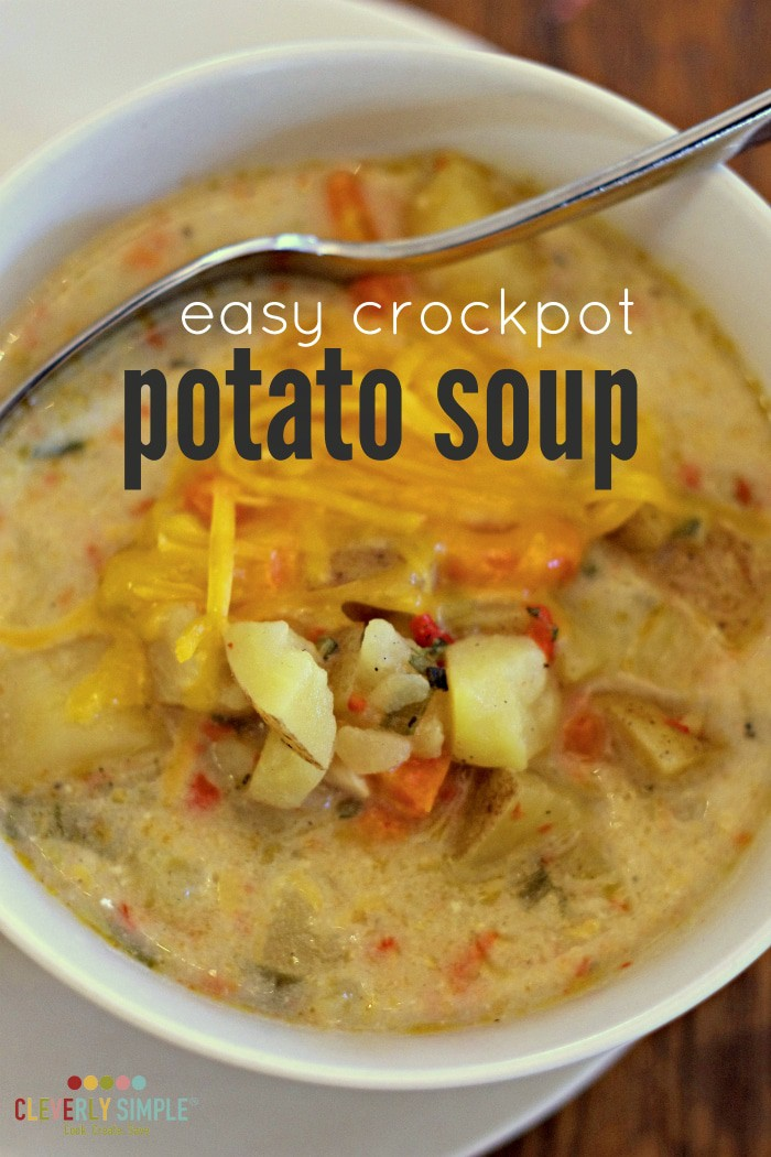 easy crockpot potato soup recipe