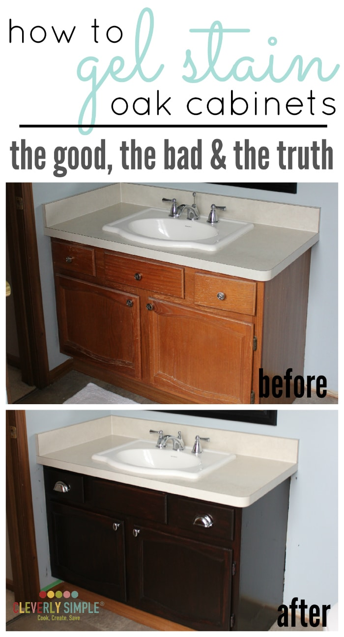 kitchen cabinet gel stain how to use gel stain on cabinets the amp the bad 18797