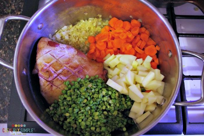 Making Split Pea Soup