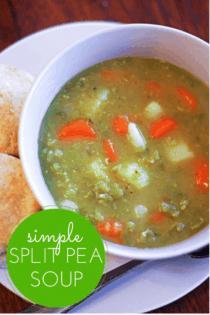 split pea soup recipe in bowl