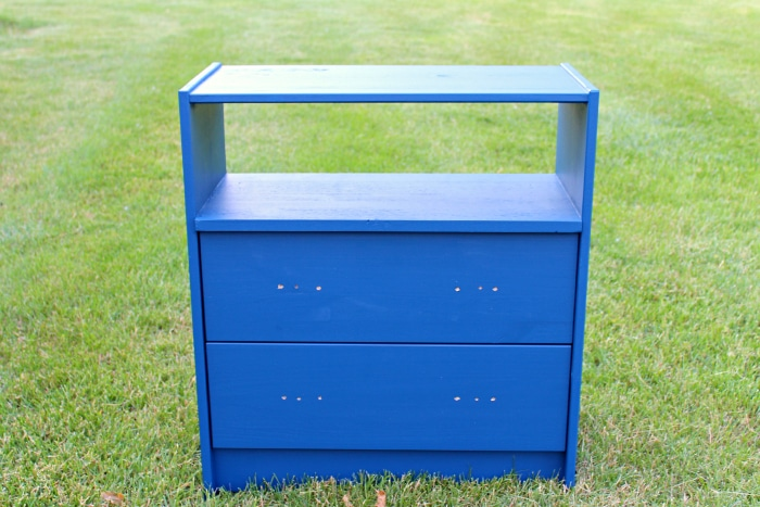 Painted blue ikea rast dresser