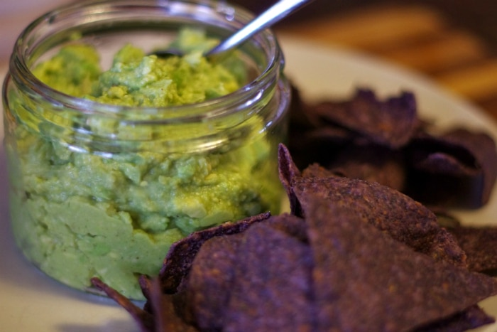 the best guac recipe on plate