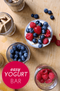 easy breakfast for out of town guests - yogurt bar