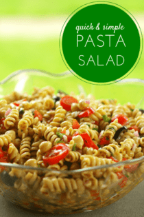 quick simple pasta salad