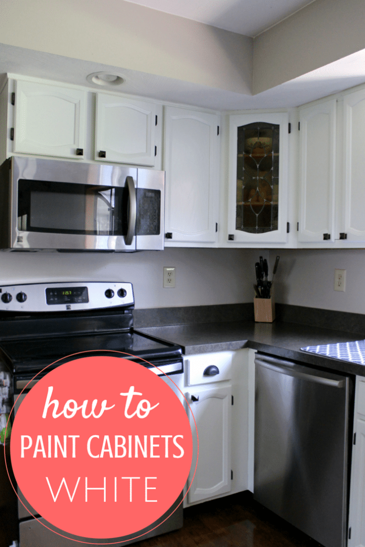 how to paint my kitchen cabinets white how to paint cabinets from someone who just did 17222