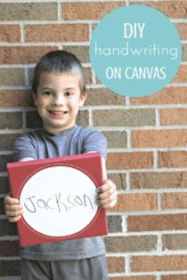 DIY Handwriting On Canvas