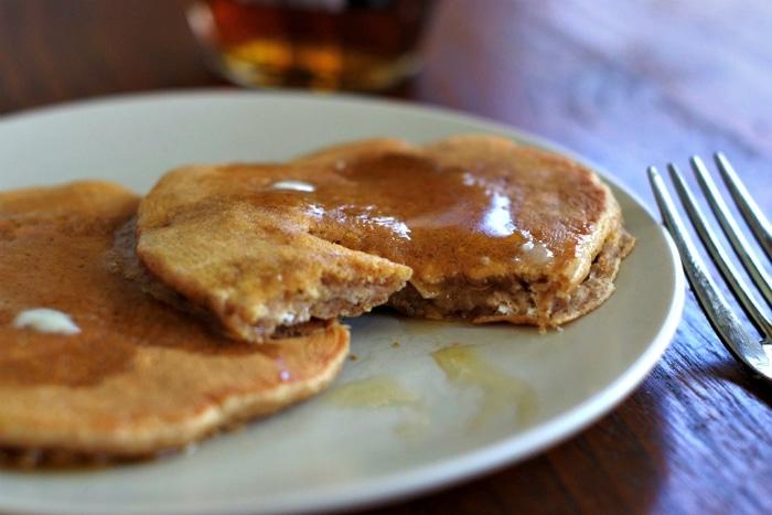 Inside a homemade pancake