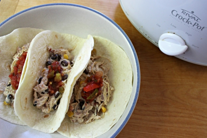 chicken stuffed tacos in the crockpot