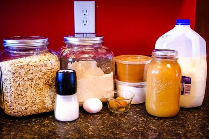 healthy oatmeal pancakes ingredients