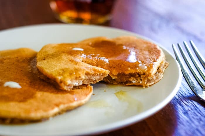 healthy oatmeal pancakes on plate